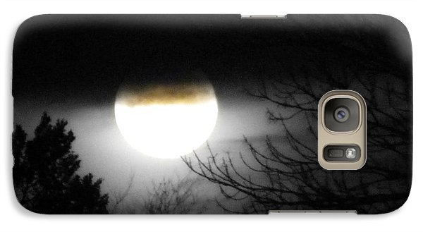 Galaxy Case featuring the photograph Black And White Full Moon by Michelle Frizzell-Thompson