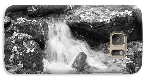 Galaxy Case featuring the photograph Black And White Mini Waterfall by Michael Waters