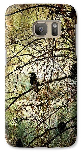 Galaxy Case featuring the photograph Black Birds by John Rivera