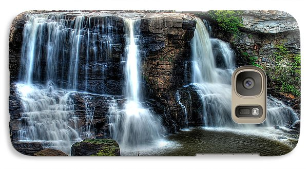 Galaxy Case featuring the photograph Black Water Falls by Mark Dodd