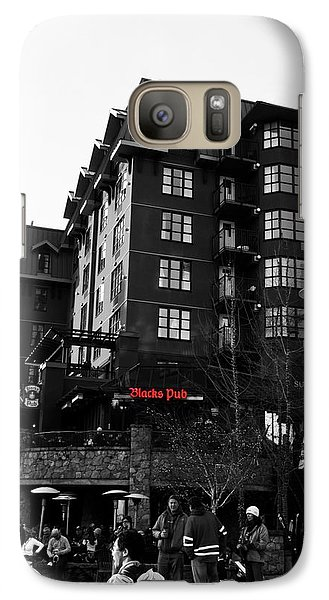 Galaxy Case featuring the photograph Blacks Pub Whistler Canada by JM Photography