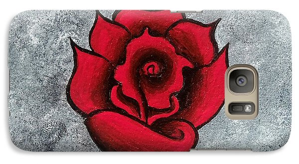 Galaxy Case featuring the painting Blooming Beauty by Oddball Art Co by Lizzy Love