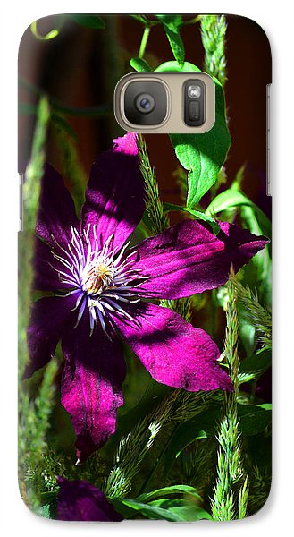 Galaxy Case featuring the photograph Blooming Clematis by Susanne Still