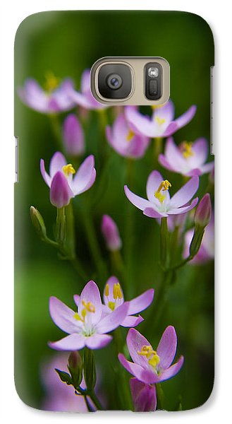 Galaxy Case featuring the photograph Blooming Pink Petals by Tyra  OBryant