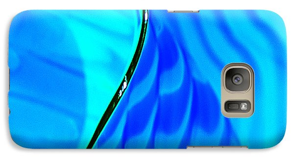 Galaxy Case featuring the photograph Blue And Green by Artist and Photographer Laura Wrede