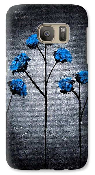 Galaxy Case featuring the painting Blue Beauties by Oddball Art Co by Lizzy Love