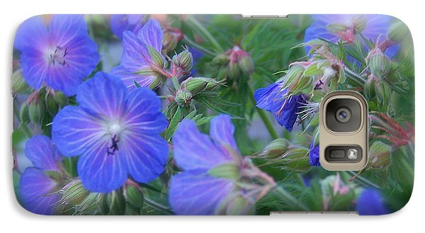 Galaxy Case featuring the photograph Blue Beauties by Robin Regan
