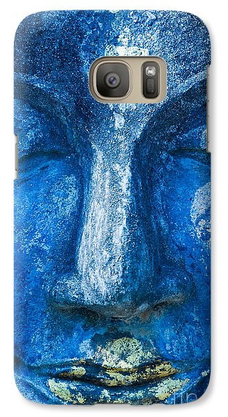 Galaxy Case featuring the photograph Blue Buddha  by Luciano Mortula