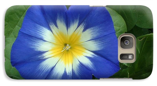Galaxy Case featuring the photograph Blue Burst by Bonfire Photography