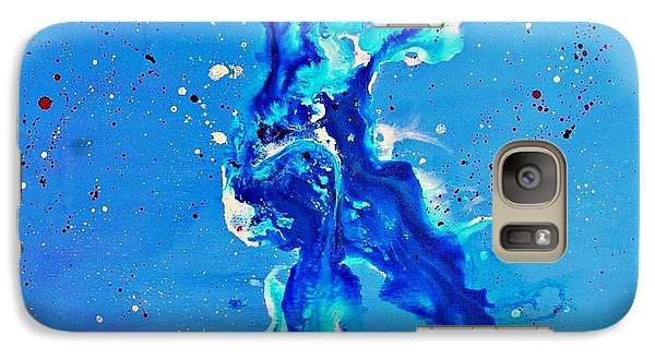 Galaxy Case featuring the painting Blue Dancer by Mary Kay Holladay