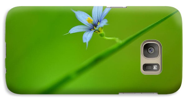 Galaxy Case featuring the photograph Blue-eyed Grass by JD Grimes