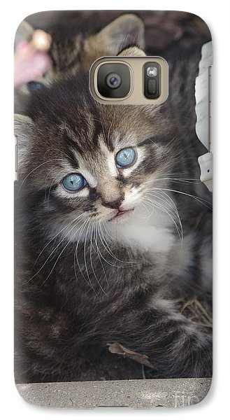 Galaxy Case featuring the photograph Blue Eyes by Tannis  Baldwin