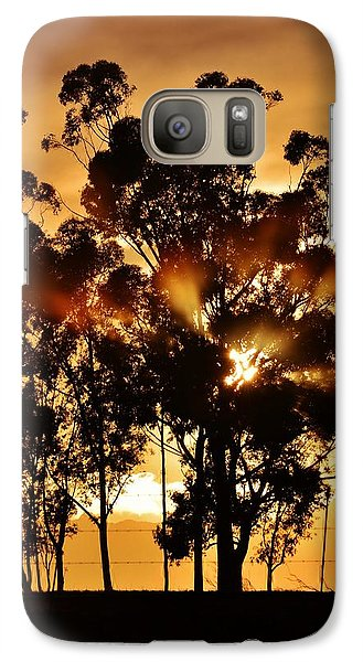 Galaxy Case featuring the photograph Blue Gum Trees by Werner Lehmann