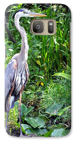 Galaxy Case featuring the photograph Blue Heron At The Everglades by Pravine Chester
