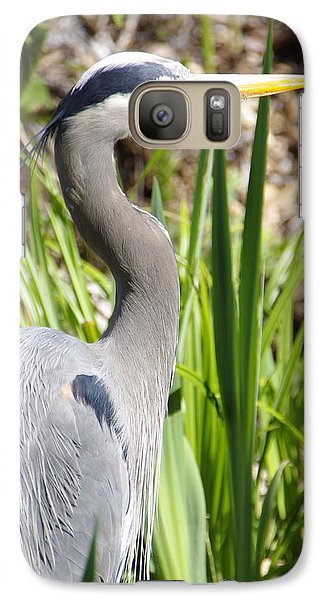 Galaxy Case featuring the photograph Blue Heron by Marilyn Wilson