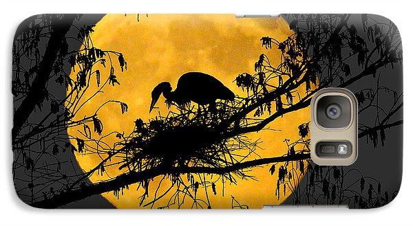 Galaxy Case featuring the photograph Blue Heron On Roost by Dan Friend