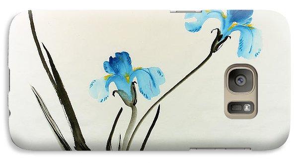 Galaxy Case featuring the painting blue iris II by Yolanda Koh