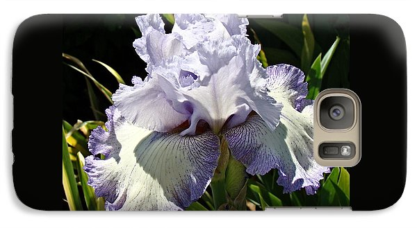 Galaxy Case featuring the photograph Blue Iris by Nick Kloepping