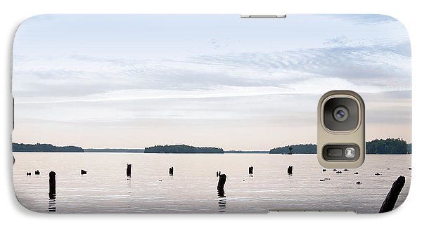 Galaxy Case featuring the photograph Blue Lake Muskoka by Les Palenik