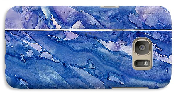 Galaxy Case featuring the painting Blue Mood by Joan Hartenstein