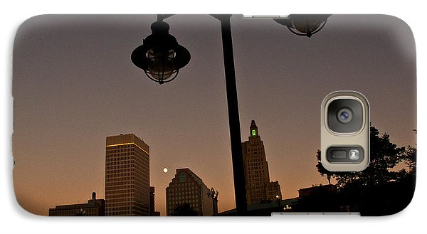 Galaxy Case featuring the photograph Blue Moon Over Downtown Providence 1 by Nancy De Flon