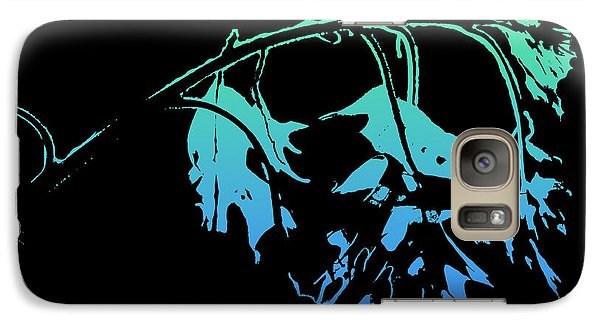 Galaxy Case featuring the photograph Blue On Black by Lauren Radke