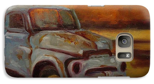 Galaxy Case featuring the painting Blue Pickup by Carol Berning