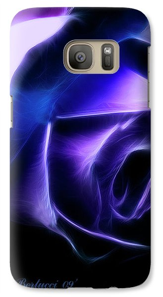 Galaxy Case featuring the photograph Blue Rose by Joan Bertucci