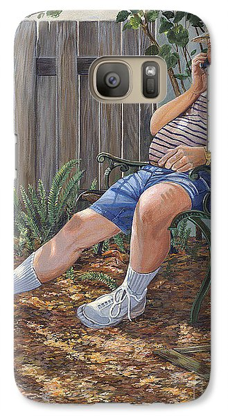 Galaxy Case featuring the painting Blue Royal by AnnaJo Vahle