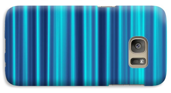 Galaxy Case featuring the digital art Blue Screen by Jeff Iverson