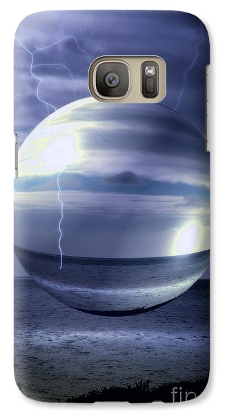 Galaxy Case featuring the photograph Blue Sea Hover Bubble by Vicki Ferrari