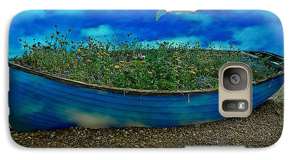Galaxy Case featuring the photograph Blue Sky Boat  by Chris Lord