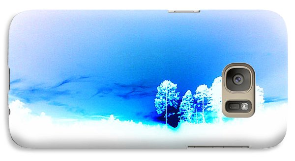 Galaxy Case featuring the photograph Blue Sky by Max Mullins