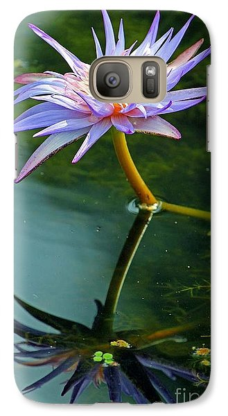 Galaxy Case featuring the photograph Blue Stargazer Lily by Larry Nieland