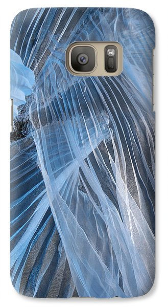 Galaxy Case featuring the photograph Blue Texture by Gillian Charters - Barnes