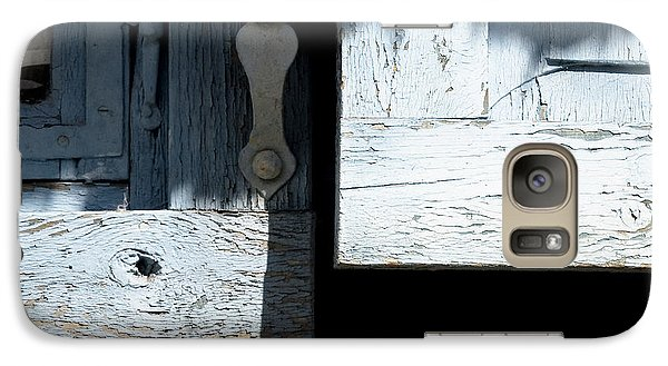 Galaxy Case featuring the photograph Blue Wooden Window Shutters by Agnieszka Kubica