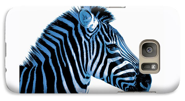 Galaxy Case featuring the photograph Blue Zebra Art by Rebecca Margraf