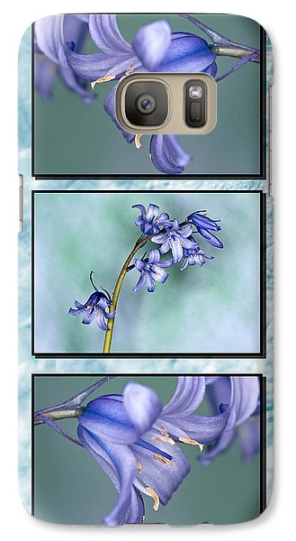 Galaxy Case featuring the photograph Bluebell Triptych by Steve Purnell