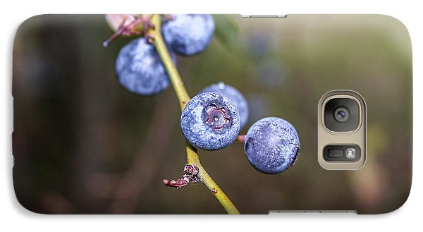 Galaxy Case featuring the photograph Blueberry by Ester  Rogers
