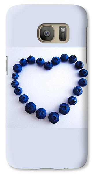Galaxy Case featuring the photograph Blueberry Heart by Julia Wilcox