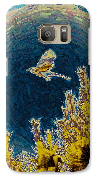 Bluejay Gone Wild Galaxy Case by Trish Tritz