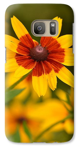Galaxy Case featuring the photograph Blush-eyed Susan by JD Grimes