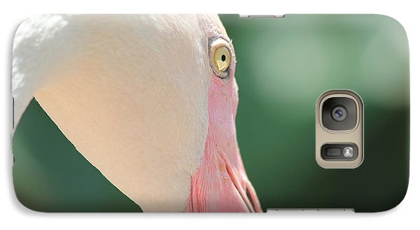 Galaxy Case featuring the photograph Blushing Flamingo by Nola Lee Kelsey
