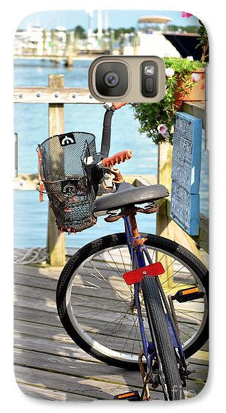 Galaxy Case featuring the photograph Boardwalk Bike by Kelly Nowak
