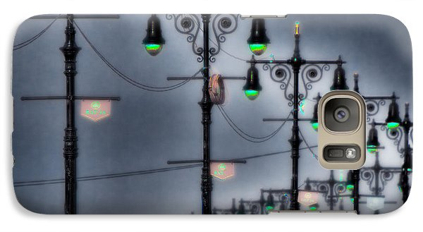 Galaxy Case featuring the photograph Boardwalk Lights by Chris Lord