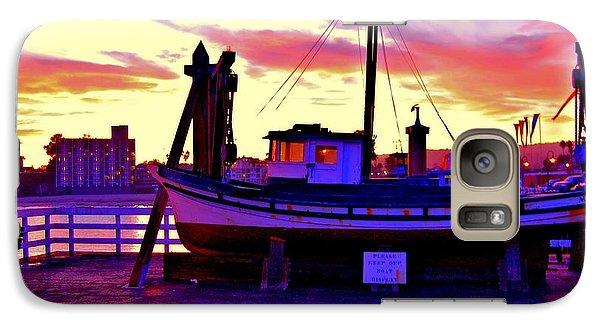 Galaxy Case featuring the photograph Boat On Santa Cruz Wharf by Garnett  Jaeger