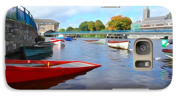 Galaxy Case featuring the photograph Boats On The Garavogue by Charlie and Norma Brock