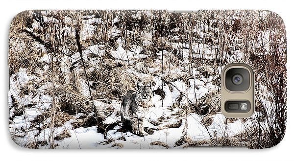 Galaxy Case featuring the photograph Bobcat Winter by Britt Runyon
