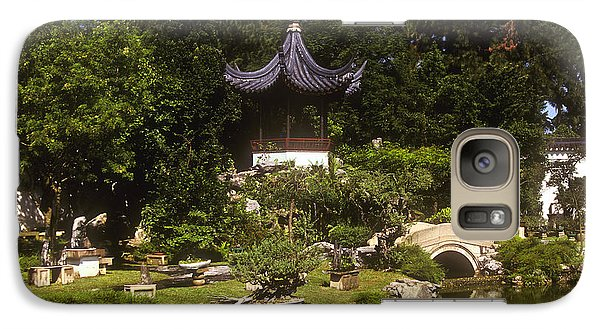 Galaxy Case featuring the photograph Bonzai Garden And Gazebo 19l by Gerry Gantt