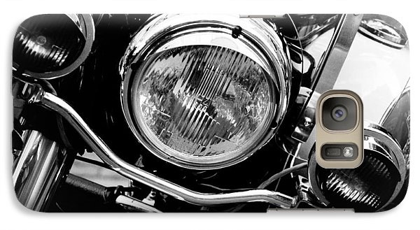 Galaxy Case featuring the photograph Boston Police Harley by Mike Martin